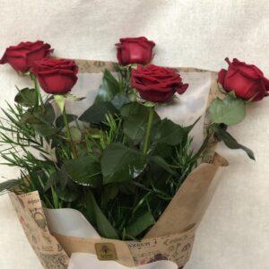 Rose rosse – 5 steli