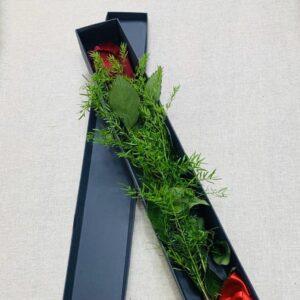 Rose rosse – Singola con scatola